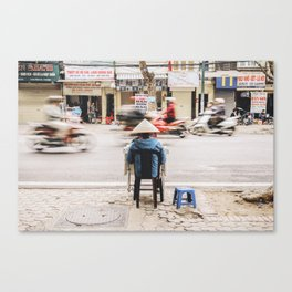The passing of time in Hanoi, Vietnam Canvas Print