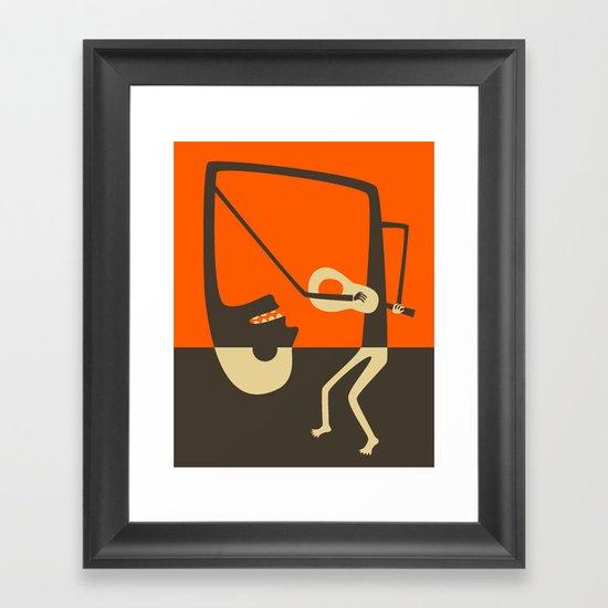 Blues Guitar Framed Art Print