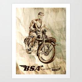 BSA - Vintage Poster Art Print