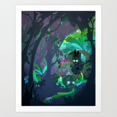Bunny Aint No Kind Of Rider Art Print
