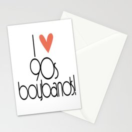 I Love 90s Boy Bands Stationery Cards