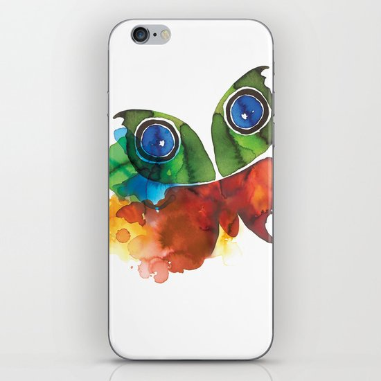 colorful butterfly iPhone & iPod Skin