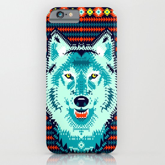 Geometric Wolf  iPhone & iPod Case
