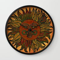 grunge Wall Clocks featuring Grunge by BohemianBound