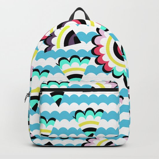 Floral pieces among clouds Backpack