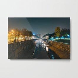 Wienfluss at Stadtpark Metal Print