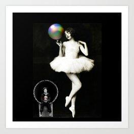 Buster & the Ballet Dancer Art Print