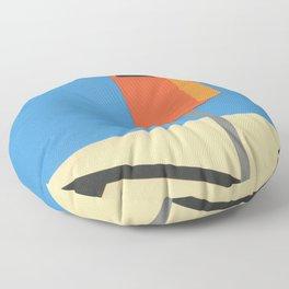 Orange Trash Can Floor Pillow