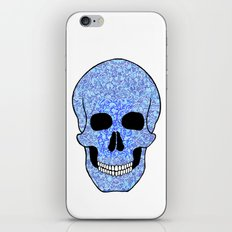 Blue Skull iPhone & iPod Skin