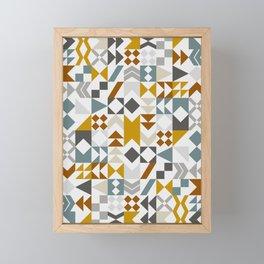 Mid West Geometric 06 Framed Mini Art Print