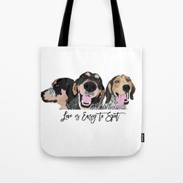 Love is Easy to Spot Bluetick Coonhound Tote Bag