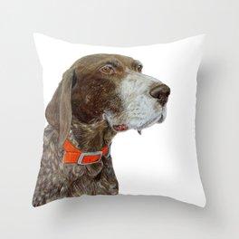 Anja the German Shorthair Pointer Throw Pillow