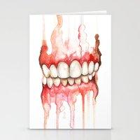 teeth Stationery Cards featuring Teeth  by Monica Loya