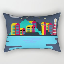 Town on island Rectangular Pillow