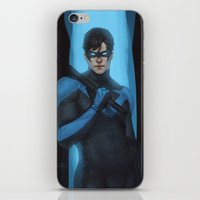 nightwing iPhone & iPod Skins featuring Nightwing by Guilherme Prieto