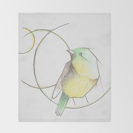 Vida de pájaro Throw Blanket