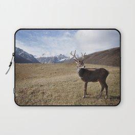 Caribou On The Tundra Laptop Sleeve