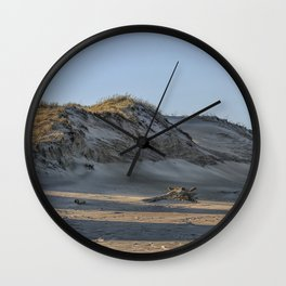 Sand dunes at the beach Wall Clock
