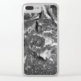 Meat Marble Clear iPhone Case