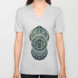 Ultra Sacred Geometry Dark Unisex V-Neck