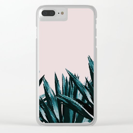 Pastel agave Clear iPhone Case