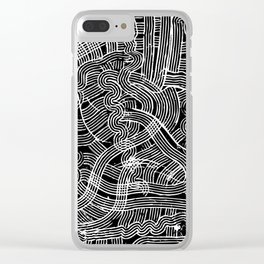 Fork Waves Clear iPhone Case