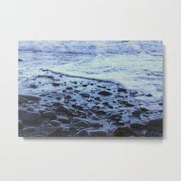 Waves on the Beach Photography Print Metal Print