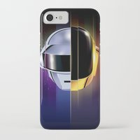 daft punk iPhone & iPod Cases featuring Daft Punk by Alevan
