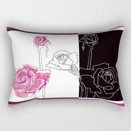 Roses - positive and negative Rectangular Pillow