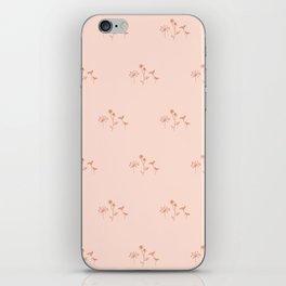 Wildflower Line Art iPhone Skin
