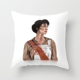 Claire Elizabeth Beauchamp Randall Fraser - Outlander Throw Pillow