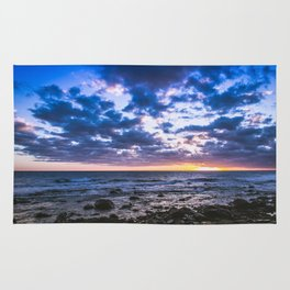 Sunset rock landscape Rug