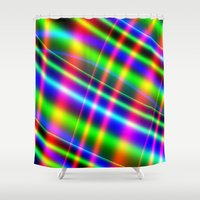 bands Shower Curtains featuring Bands of Beauty by Sartoris ART