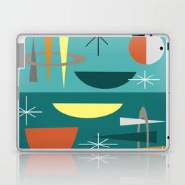 Turquoise Mid Century Modern Laptop & iPad Skin