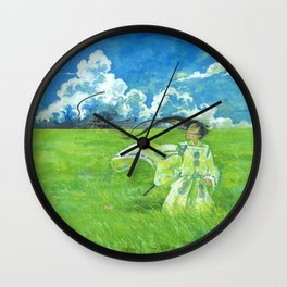 August - Indication of rain - Wall Clock