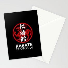 Shotokan Karate Symbol and Kanji white text Stationery Cards