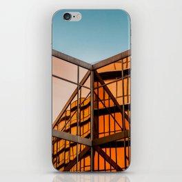 Orange & Blue iPhone Skin