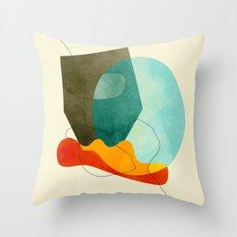 shaped world Throw Pillow