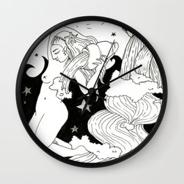 Magic fountain Wall Clock