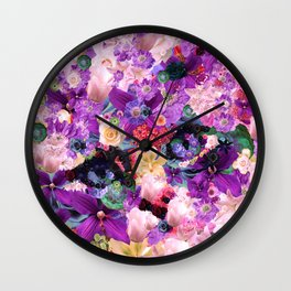 Kitten caught in the garden Wall Clock