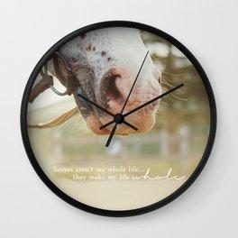 horses make me whole Wall Clock