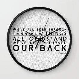 Our Back Wall Clock