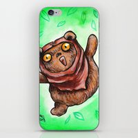 ewok iPhone & iPod Skins featuring The Happiest Ewok by Megan Mars