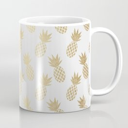 Gold Pineapple Pattern Coffee Mug