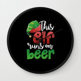 This Elf Runs on Beer Wall Clock