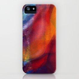 Dancing Colors Digital Painting iPhone Case