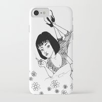 mia wallace iPhone & iPod Cases featuring Chilling with Mia Wallace  by MORPH3US