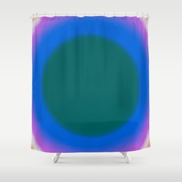 Teal Fuzz Shower Curtain