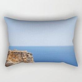 Ruins and the Sea Rectangular Pillow