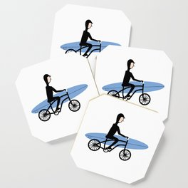 Winter surfer Coaster